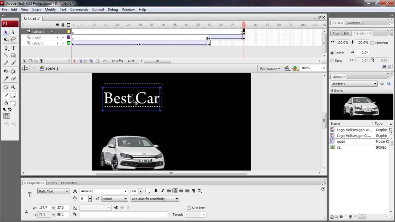 Tutorial Membuat Iklan dengan Adobe Flash - YouTube