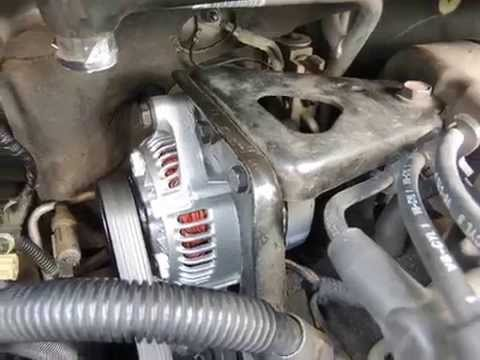 33L Dodge Caravan Alternator Change - YouTube