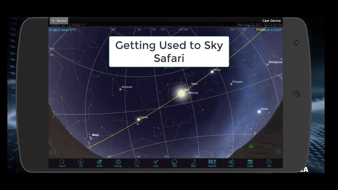 Getting Used to Sky Safari