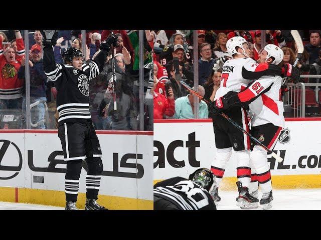 Senators, Blackhawks combine for eye-popping nine goals in 1st