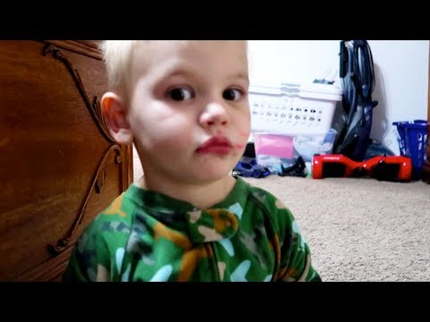 😭HE RUINED the CARPET!! | TODDLER spills NAIL POLISH! 💅