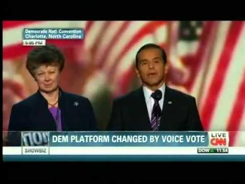 Watch: Democrats Boo Inclusion of God, Jerusalem