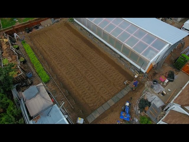 How to shape and prepare greenhouse beds - VLOG 38