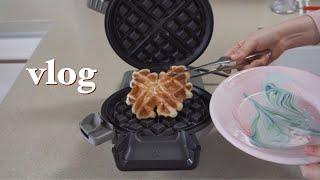 eng) vlog 크로플의 참맛을 알아버렸다 계란마요비…