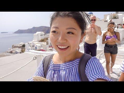 MY GREECE HONEYMOON 😉! Tour Oia, Santorini Island