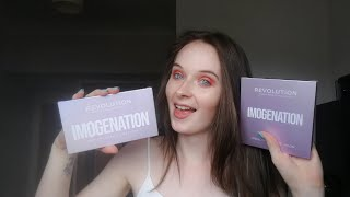 IMOGENATION FACE AND EYE PALETTE REVIEW & DEMO!!!