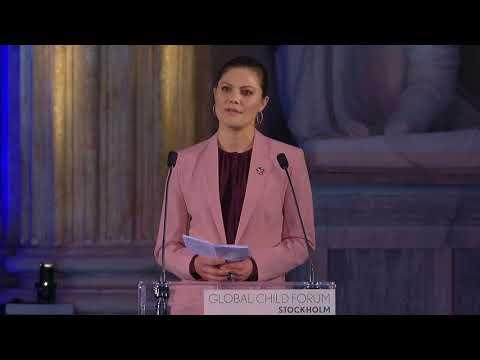 H.R.H. Crown Princess Victoria at Global Child Forum 2018