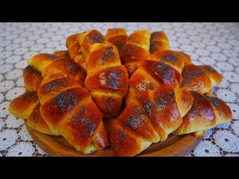 Самая НЕЖНАЯ ВКУСНАЯ и ПЫШНАЯ выпечка Рогалики с АБРИКОСАМИ выпечка рецепты