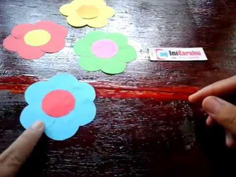 Membuat Bunga Dari Kertas Hiasan Dinding Tutorial Youtube