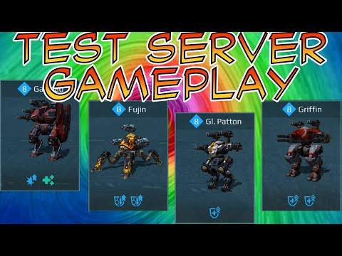 War Robots Galahad Fujin Patton Griffin Ao Ming Test Server Gameplay