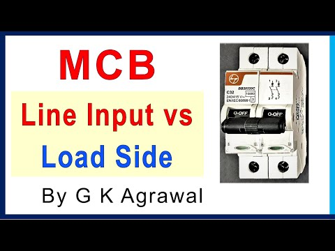 MCB breaker connection - input  load side connections - YouTube