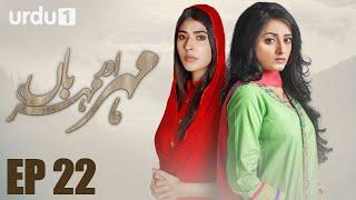 Meher Aur Meherban - Episode 22 | Urdu 1 Dramas | Affan Waheed, Sanam Chaudhry, Ali Abbas