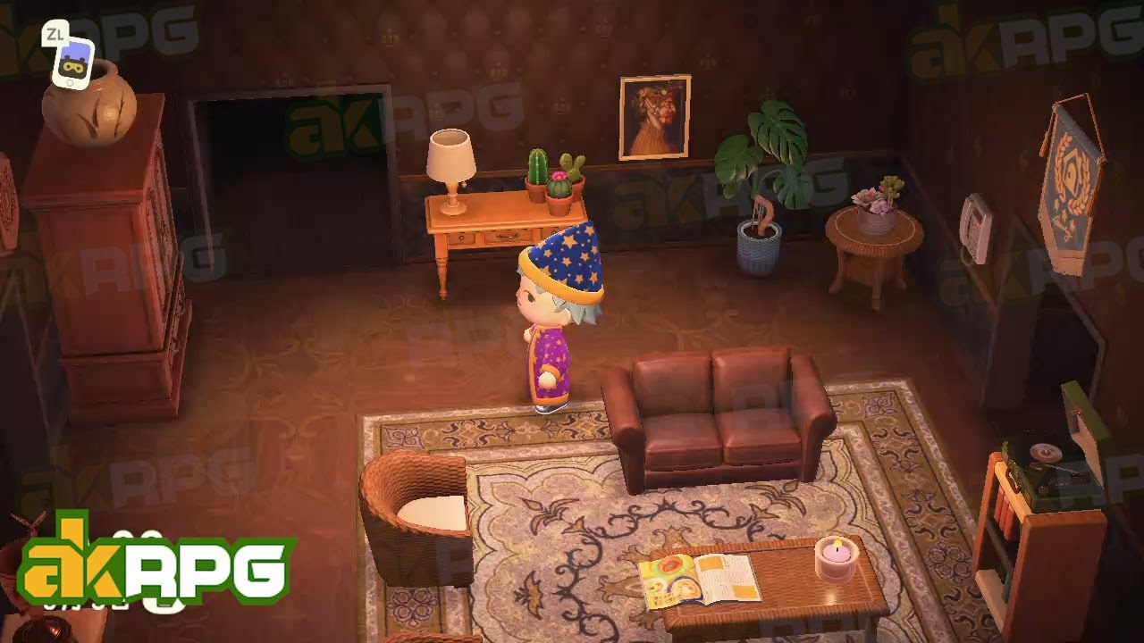 Antique Living Room With Brown Tone Best Living Room Design Ideas In Animal Crossing New Horizons Youtube