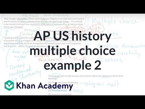 AP US History Multiple Choice Example 2 | US History | Khan Academy