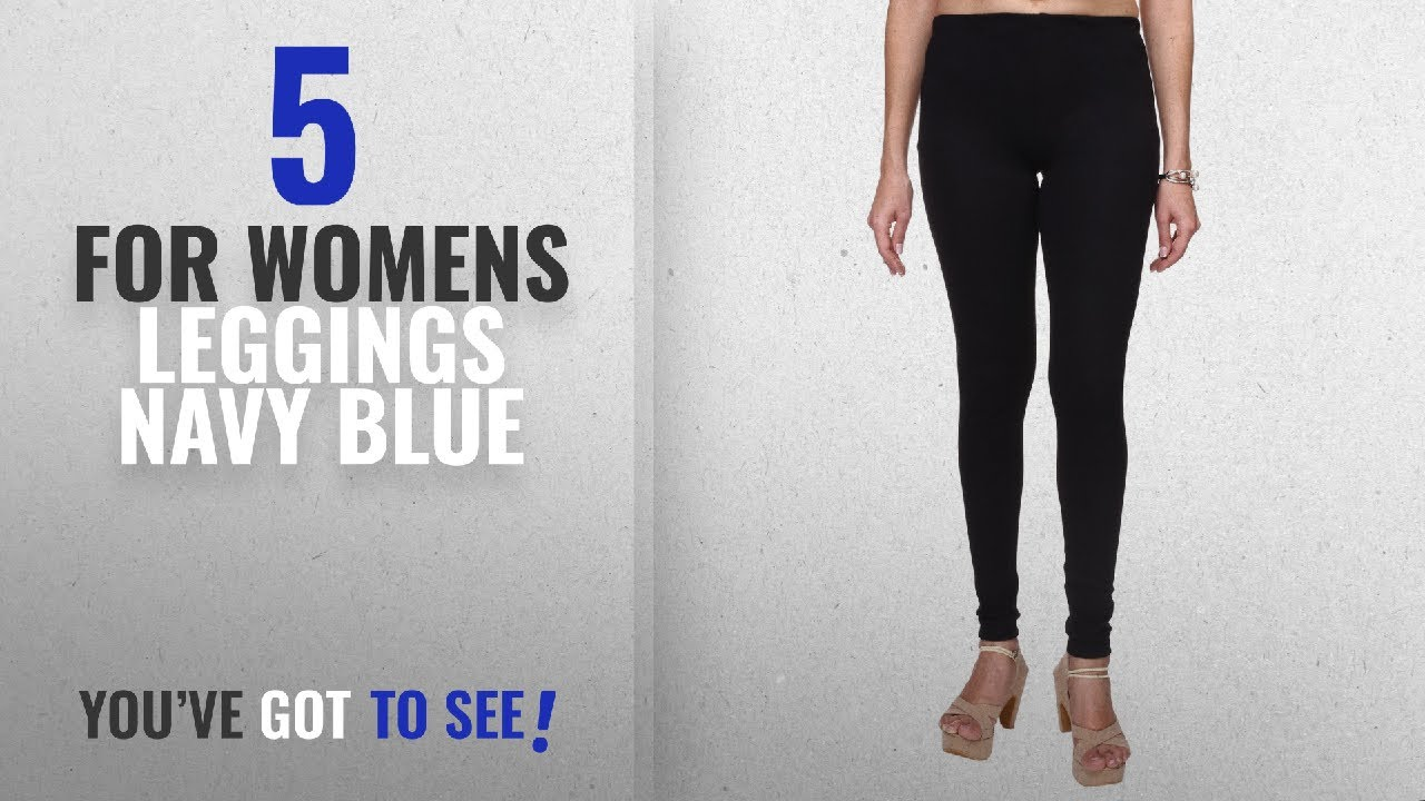 1c053e556a3895 Top 10 For Womens Leggings Navy Blue [2018]: Trasa Ultra Soft Cotton  Churidar Solid Regular and Plus