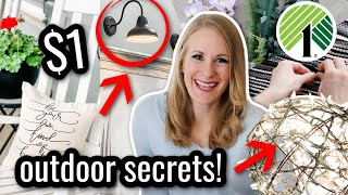 *NEW* $1 DOLLAR TREE SECRETS THAT WILL BLOW YOUR MIND! 😱🤯 (plus easy outdoor lighting hacks!)