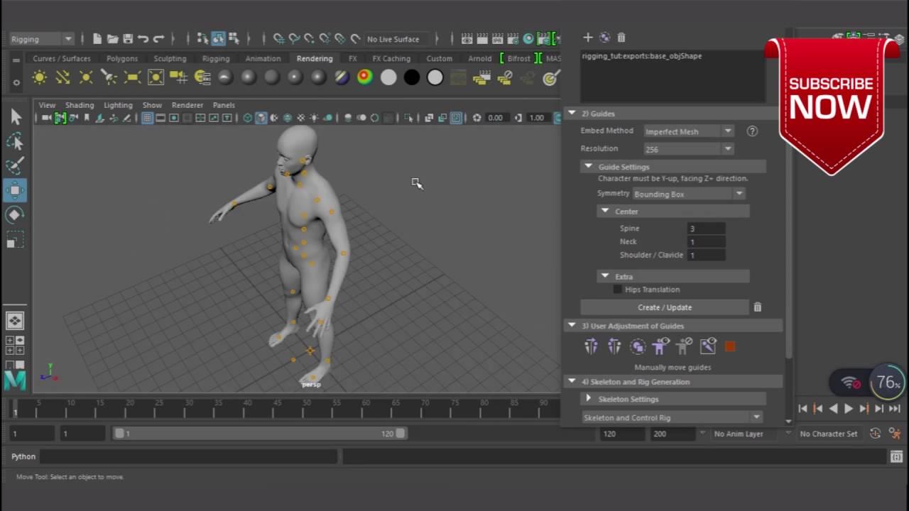 Easy Quick rig in maya 2017 beginner tutorial 01