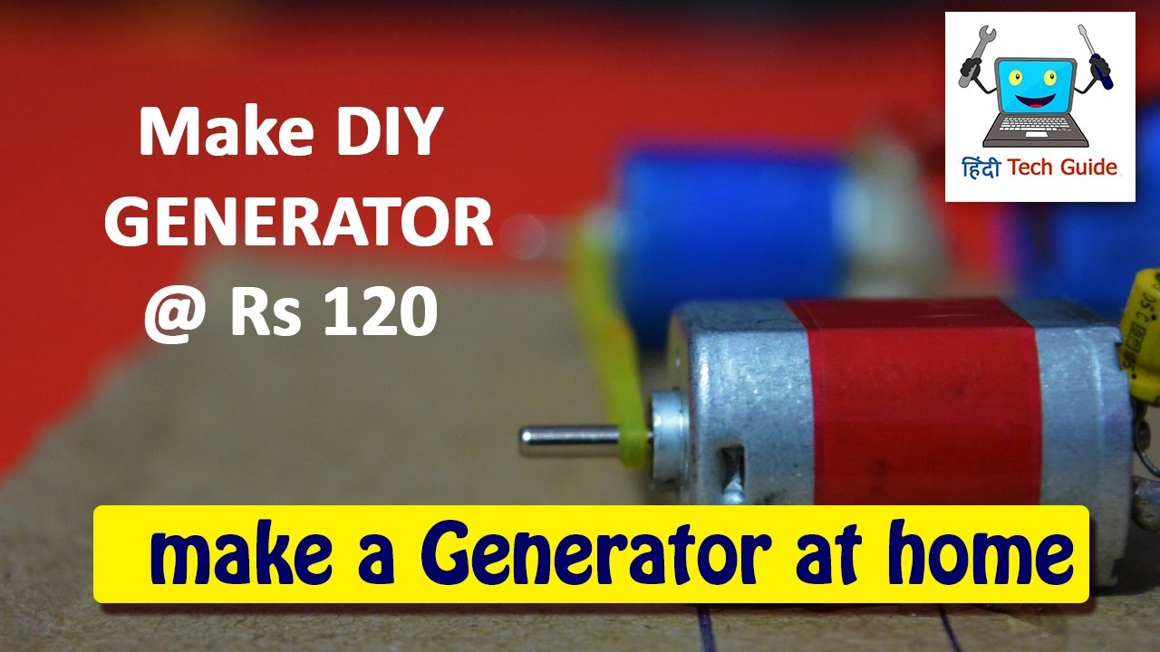 how to make DIY electric generator for school science projects YouTube