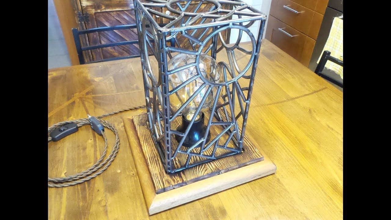 Lampadario Filo Di Ferro Fai Da Te : Lampada legno e ferro fai da te make a lamp from scrap youtube