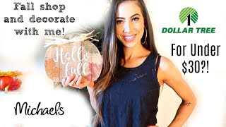 FALL SHOP & DECORATE WITH ME! FOR UNDER $30?! || Decorating an apartment on a budget!