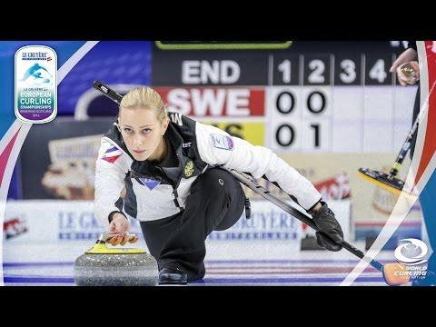 Sweden v Russia - Gold medal (Women) - Le Gruyère AOP European Curling Championships 2016