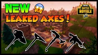 FORTNITE BATTLE ROYALE: 'NEW' LEAKED IMAGES OF UPCOMING AXES! (DOPE AXES COMINGSOON) vitrine