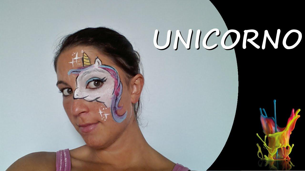 Favoloso Tutorial truccaviso - Unicorno - Truccabimbi - Unicorn Face  VA93