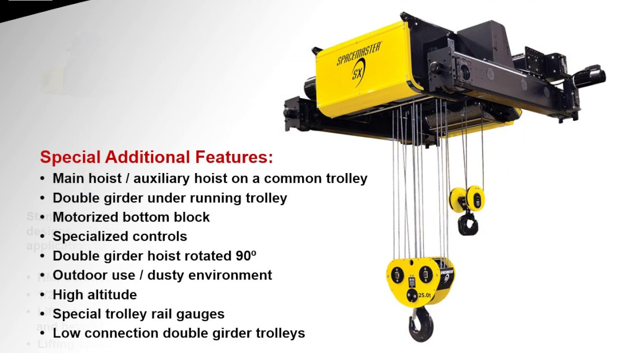SX Wire Rope Hoists Product Line - YouTube