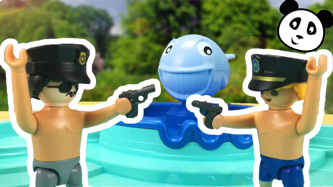 Playmobil police police at the swimming pool pandido - Playmobil swimming pool best price ...