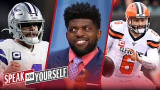 Baker or Dak? : Wiley & Acho discuss which QB has more to lose in NFL WK 4 | SPEAK FOR YOURSELF