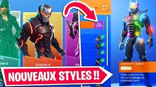 NEW STYLES FOR SKINS PALIER 100 on FORTNITE!!