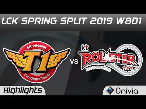 SKT vs KT Highlights Game 1 LCK Spring 2019 W8D1 SK Telecom T1 vs KT Rolster by Onivia
