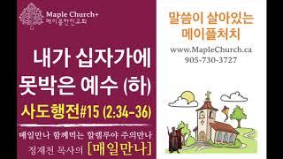 매일만나#15 내가 십자가에 못박은 예수 (사도행전 2:34-36) | 정재천 담임목사 | 말씀이 살아있는 Maple Church