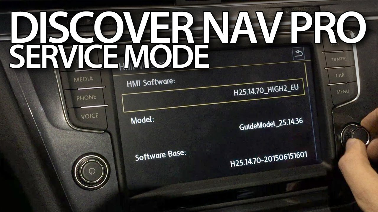 Discover Navigation Pro service mode in Volkswagen cars