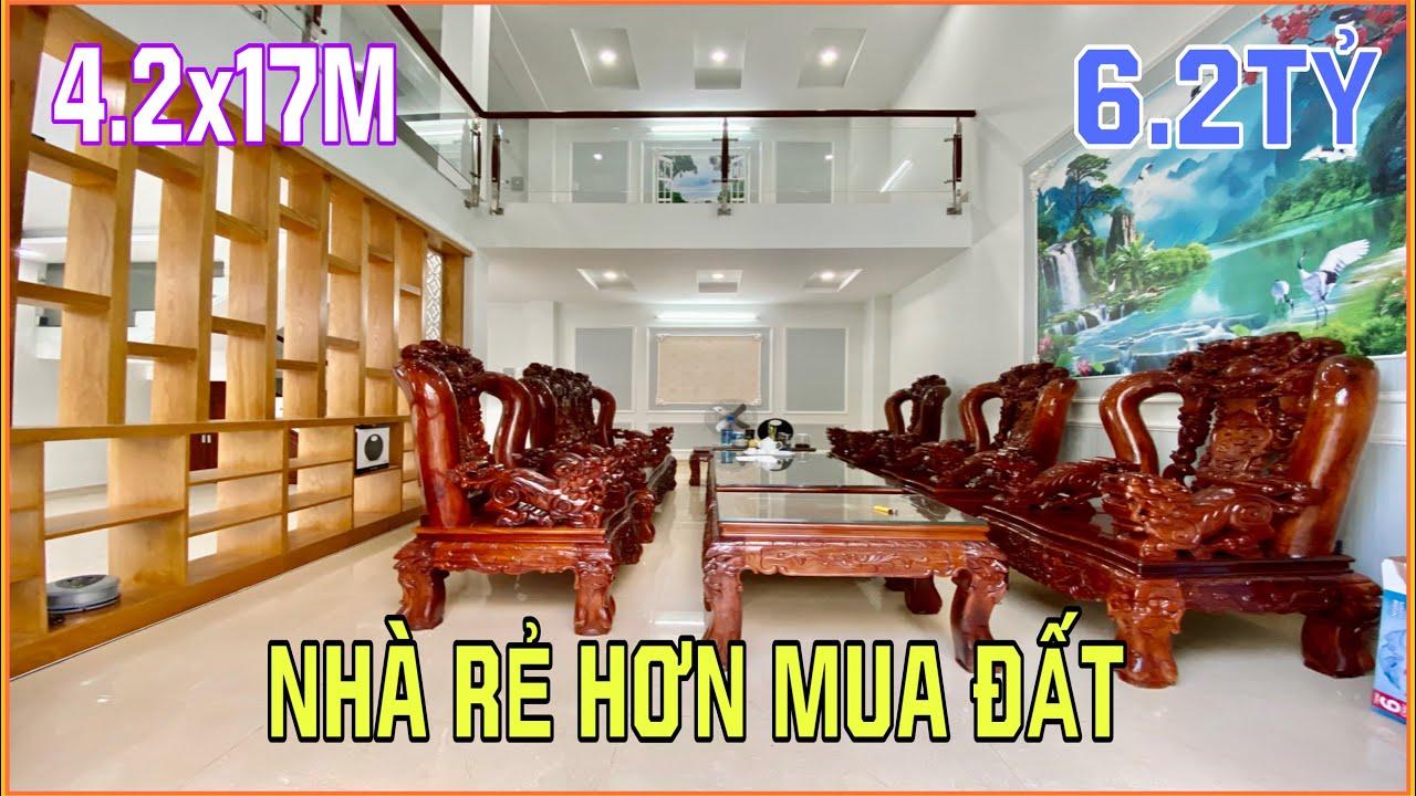 Bán nhà Gò Vấp | 4.2m x 17m nhà 4 lầu rất đẹp bán Thu Hồi Vốn rẻ hơn mua lô đất khu đồng bộ 6.2 tỷ