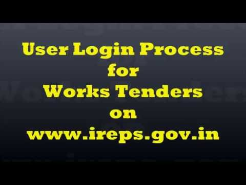 How to Login into IREPS Application as a Vendor/Bidder for Works Tenders ?
