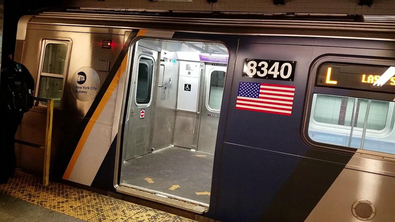 Rush-Hour NYCT R160 Folding Seat Subway Cars