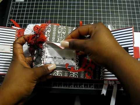 Black red and White Love Birds Paper Bag mini Album