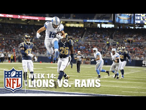 Golden Tate Snags Red Zone Slant Pass TD! | Lions vs. Rams | NFL