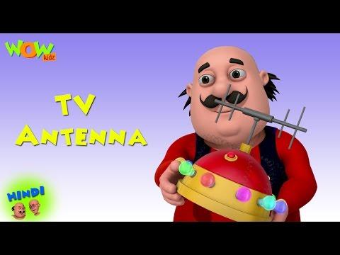 TV Antenna  Motu Patlu in Hindi  ENGLISH, SPANISH & FRENCH SUBTITLES!  3D Cartoon for Kids
