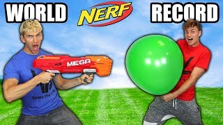 WORLD RECORD NERF TRICK SHOTS!!