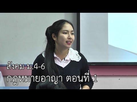 สังคมฯ ม.4-6 กฎหมายอาญา ตอนที่ 1 ครูตระการรัตน์ สัตยะยุกต์