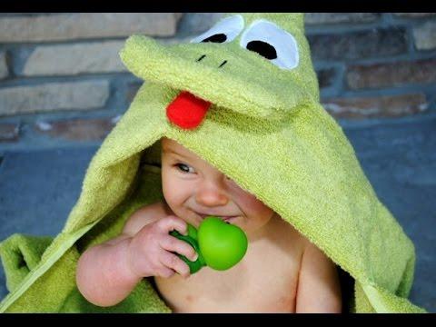 Махровое полотенце своими руками за 5 минут для вашего малыша