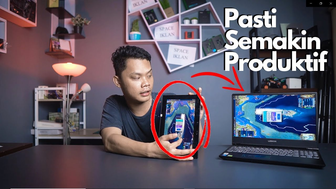 Cara Menjadikan Laptop Pc Dual Monitor Touchscreen Dengan Tablet Gratis Youtube