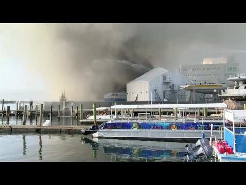VIDEO: Yacht catches fire at Riviera Beach Marina