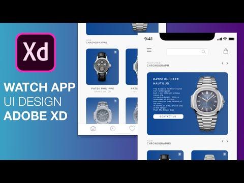 How to make Watch App UI Design Tutorial   Adobe XD Design Speedart thumbnail