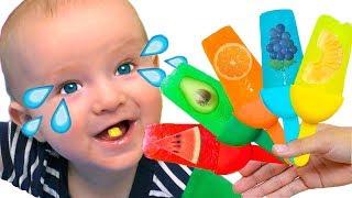 Helados de Frutas +otras Canciones Infantiles con Katya y Dima