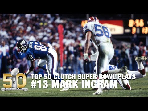 #13: Mark Ingram Breaks 5 Tackles on Crucial 3rd Down in Super Bowl XXV | Top 50 Clutch SB Plays