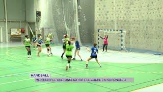 Yvelines | Handball : Montigny-le-Bretonneux rate le coche en Nationale 2