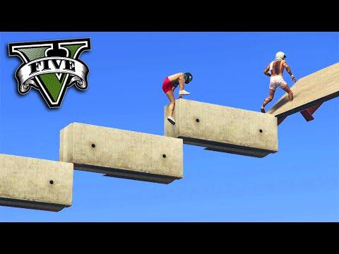 GTA V Online: Suando as canelas no PARKOUR!!!